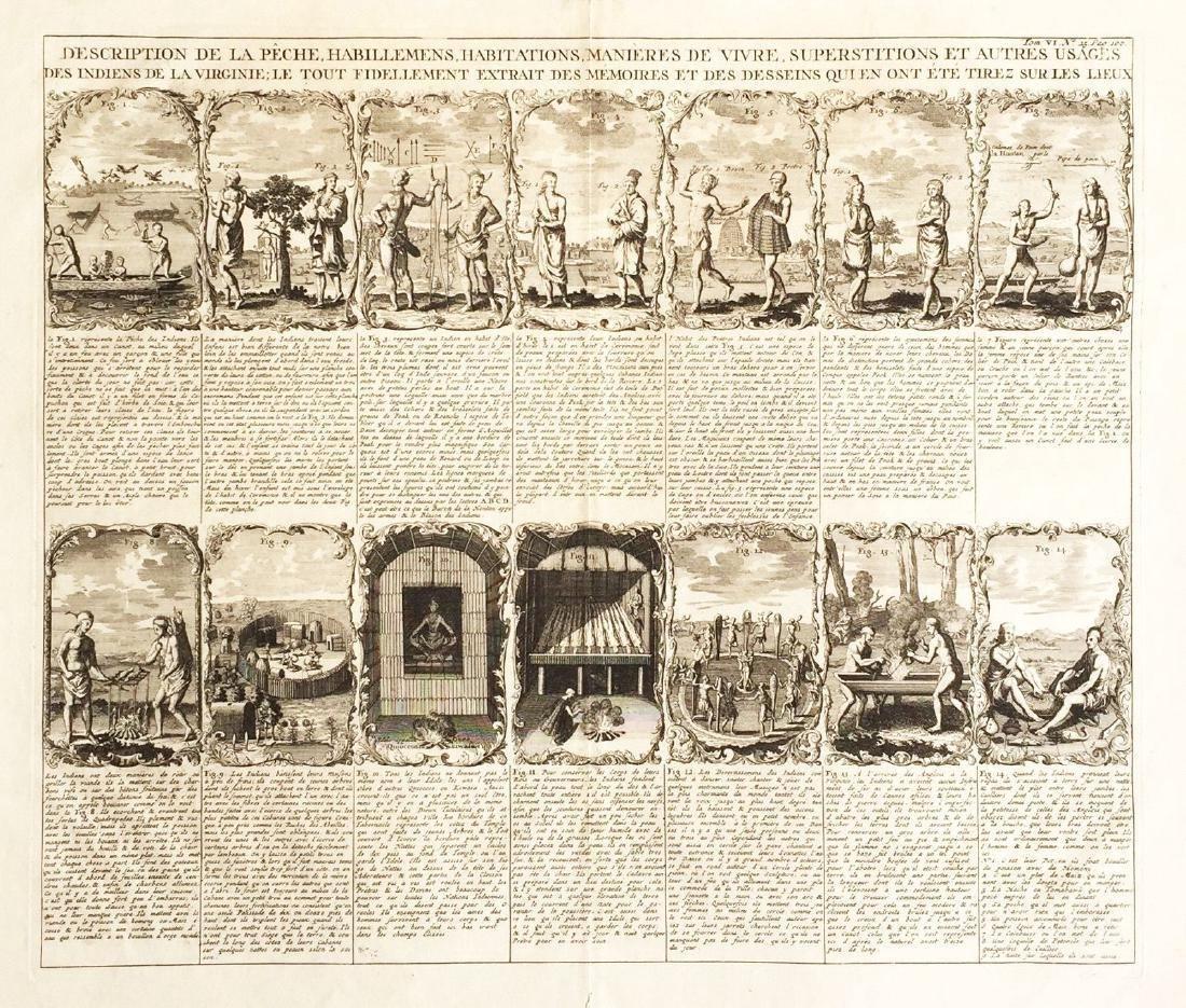 Chatelain: Scenes of Indian Life in Virginia, 1719