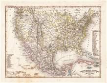 Radefeld/Meyer: Antique Map of U.S. & Mexico, 1852