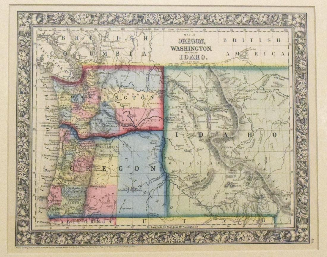 Mitchell: Antique Map of Pacific Northwest, 1889