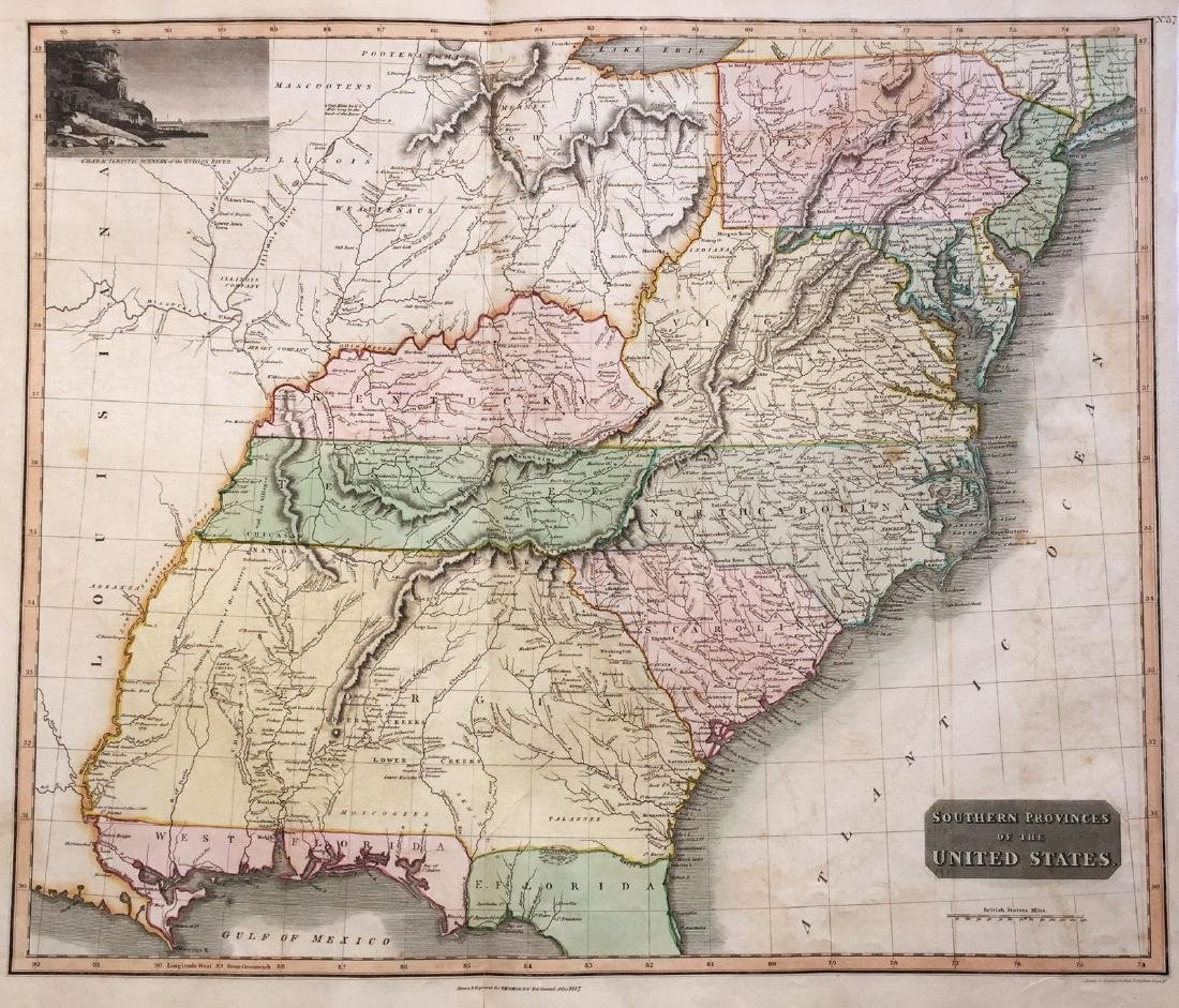 Thomson: Antique Map of Southeastern United States 1817