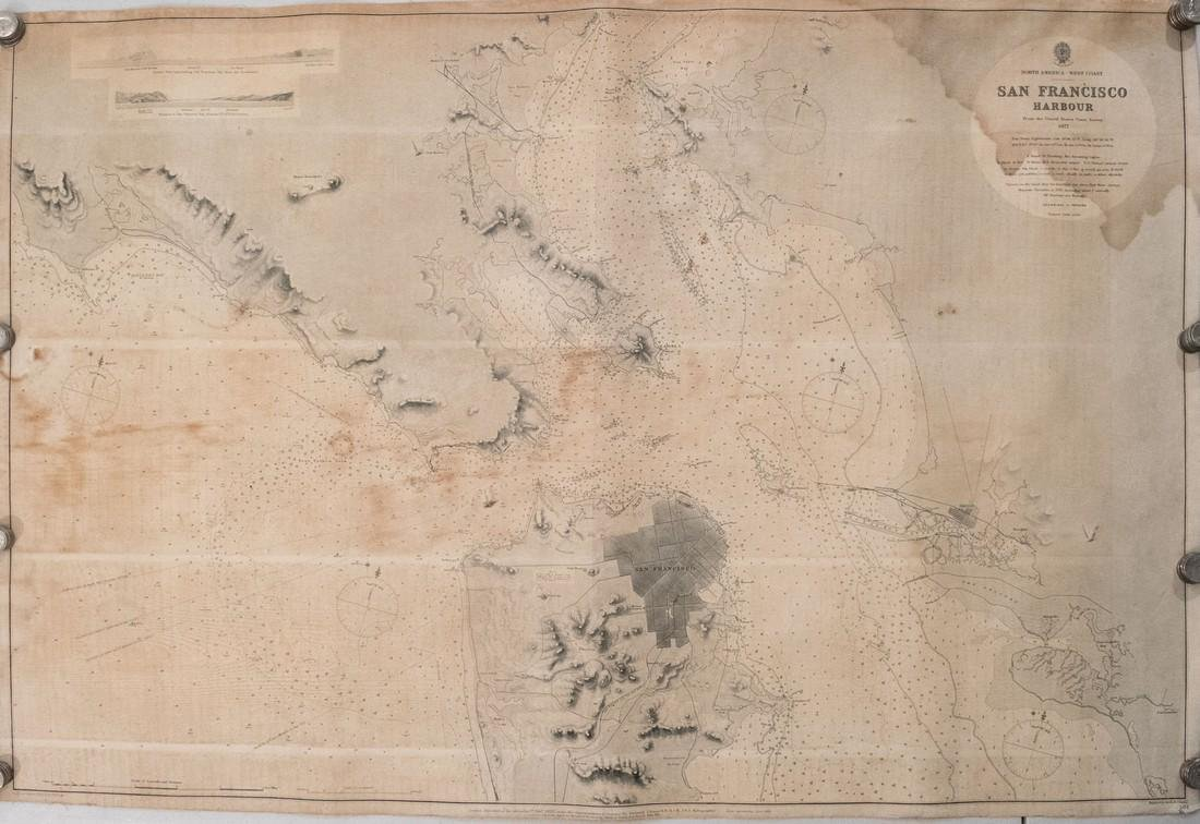 British Admiralty: Antique Chart of San Francisco