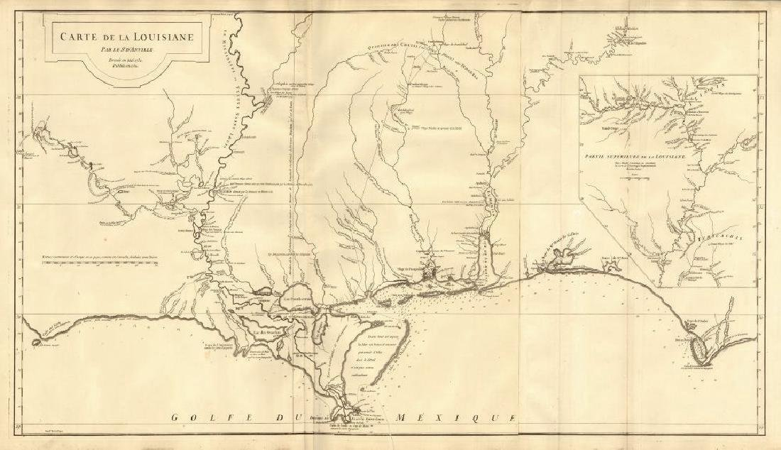 d'Anvile: Antique Map of the Gulf Coast, 1752