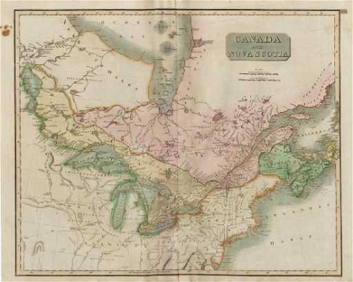 Map Of Canada Nova Scotia.Thomson Antique Map Of Canada Nova Scotia 1817