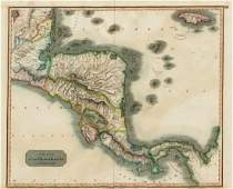 Thomson: Antique Map of Central America, 1817