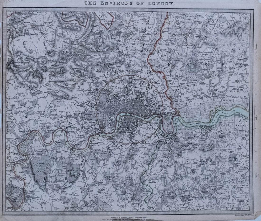 SDUK: Antique Map of Greater London, 1832