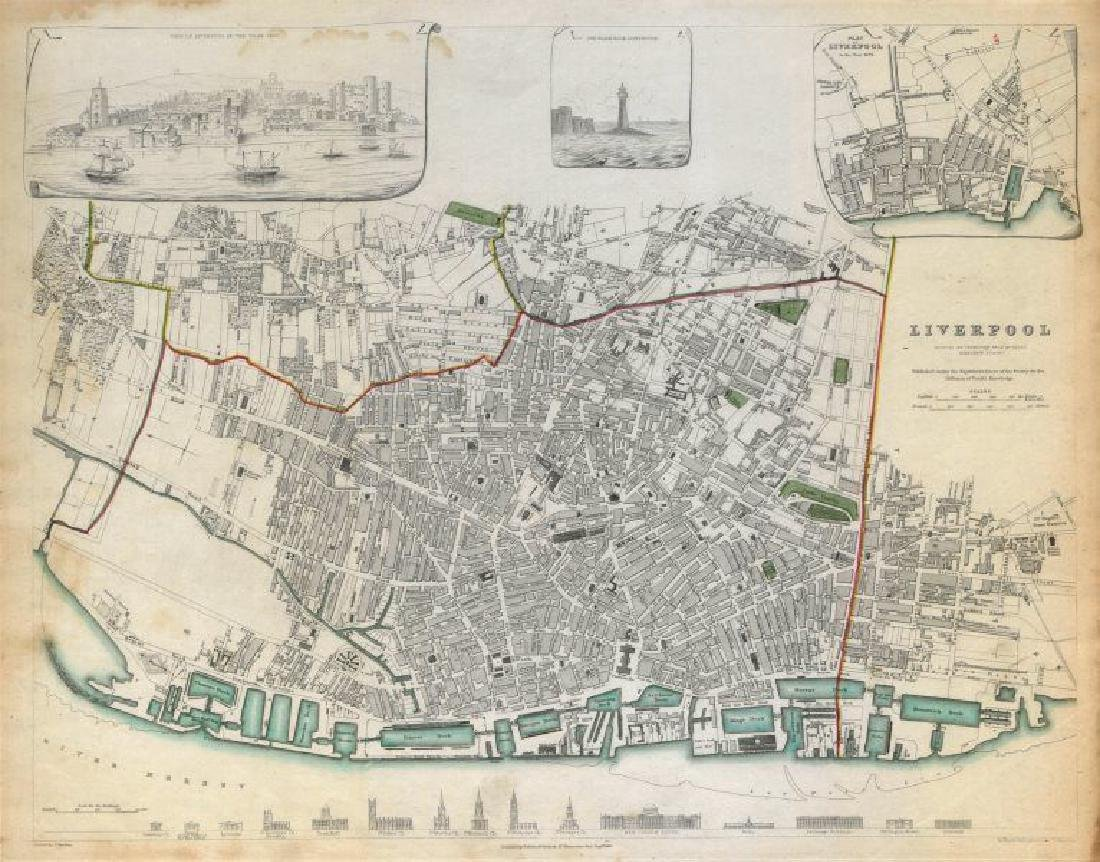 SDUK: Antique Map of Liverpool, 1844