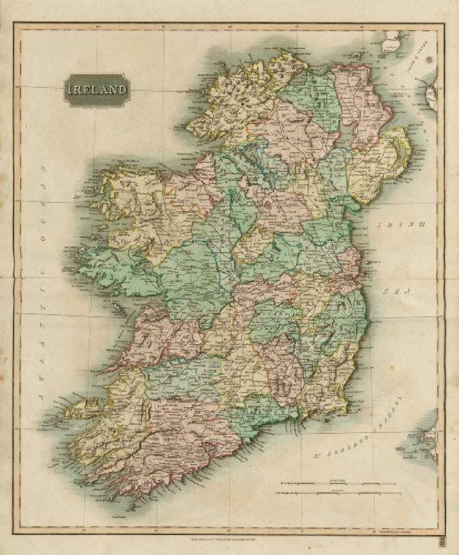 Thomson: Antique Map of Ireland, 1817