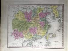 Tanner: Antique Map of China with Korea, 1843