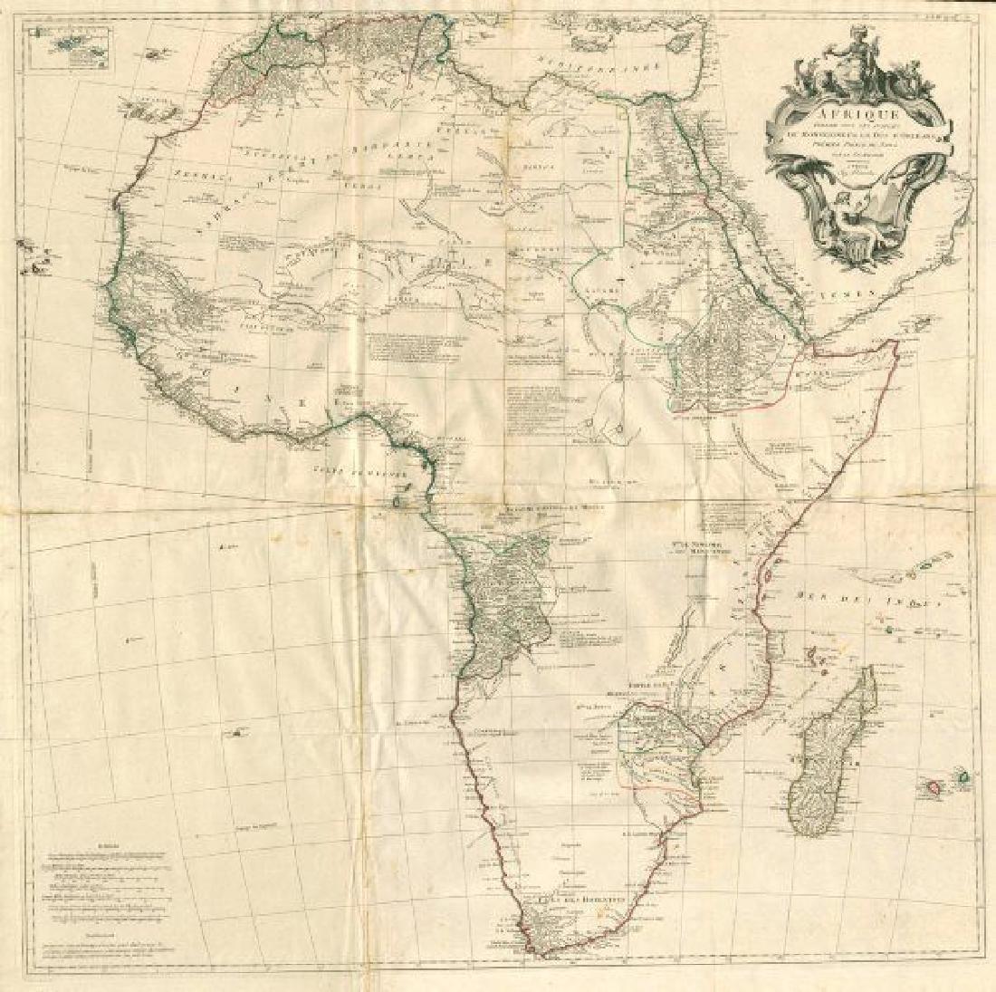 Santini / d'Anville: Antique Map of Africa, 1784