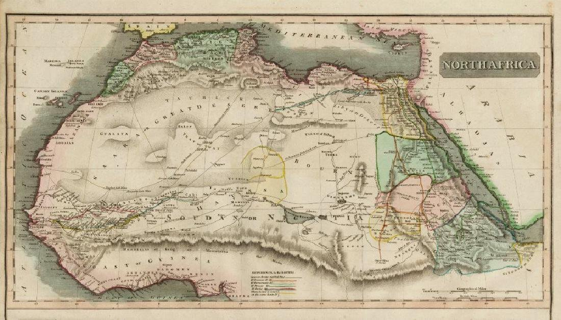 Thomson: Antique Map of North Africa, 1817