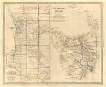 SDUK: Antique Map Western Australia & Van Diemen Island