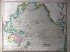 Tanner: Antique Map of Australia & Pacific Ocean, 1843