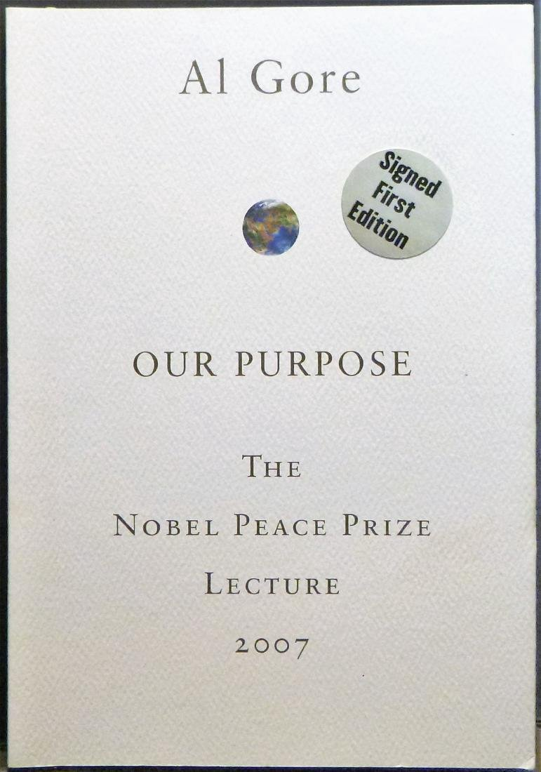 The Nobel Prize Lecture- Signed Al Gore First Edition