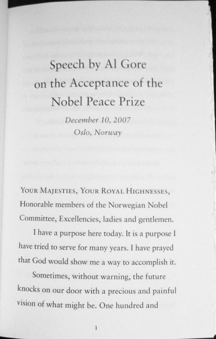The Nobel Prize Lecture- SignedAl Gore First Edition - 4