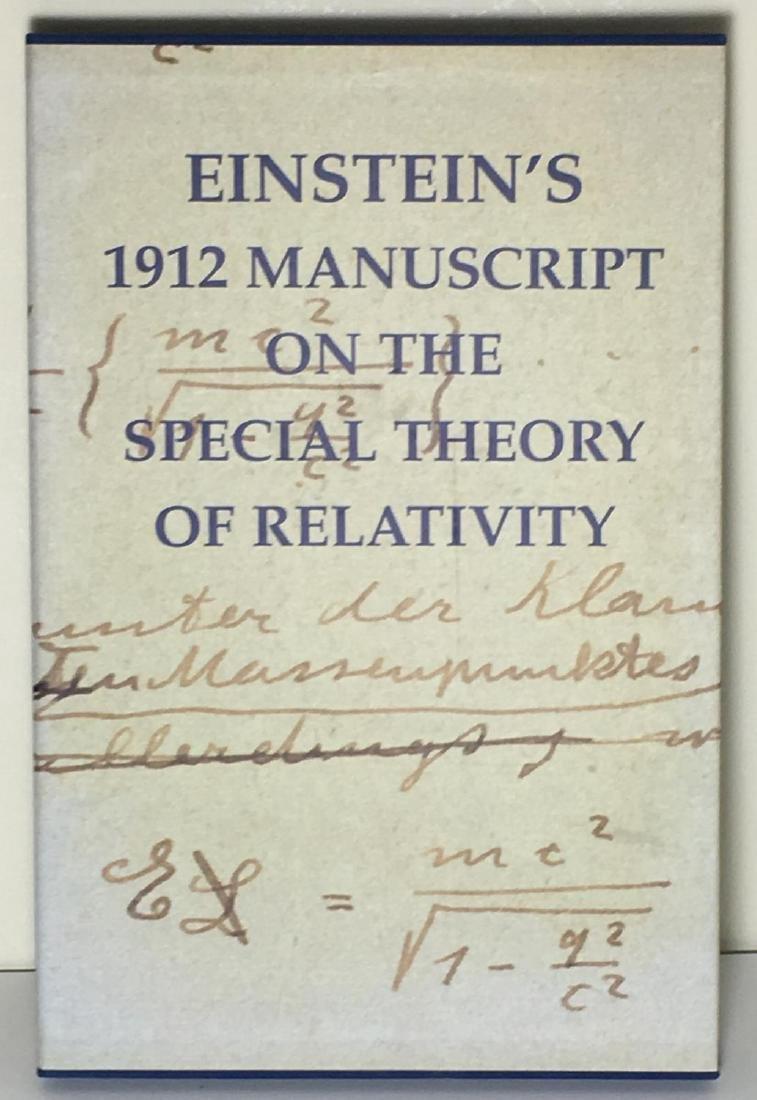 Einstein's 1912 Manuscript Special Theory of Relativity