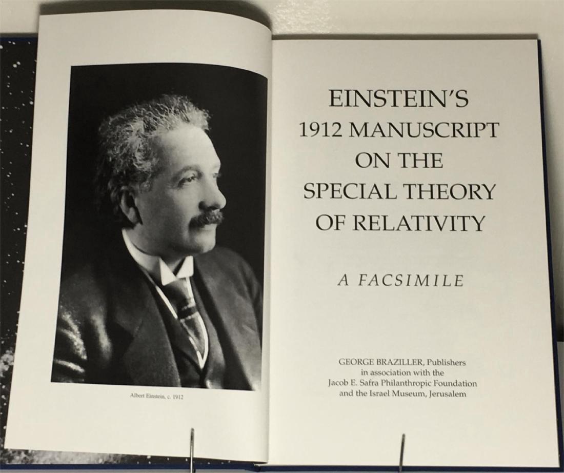 Einstein's 1912 Manuscript Special Theory of Relativity - 3
