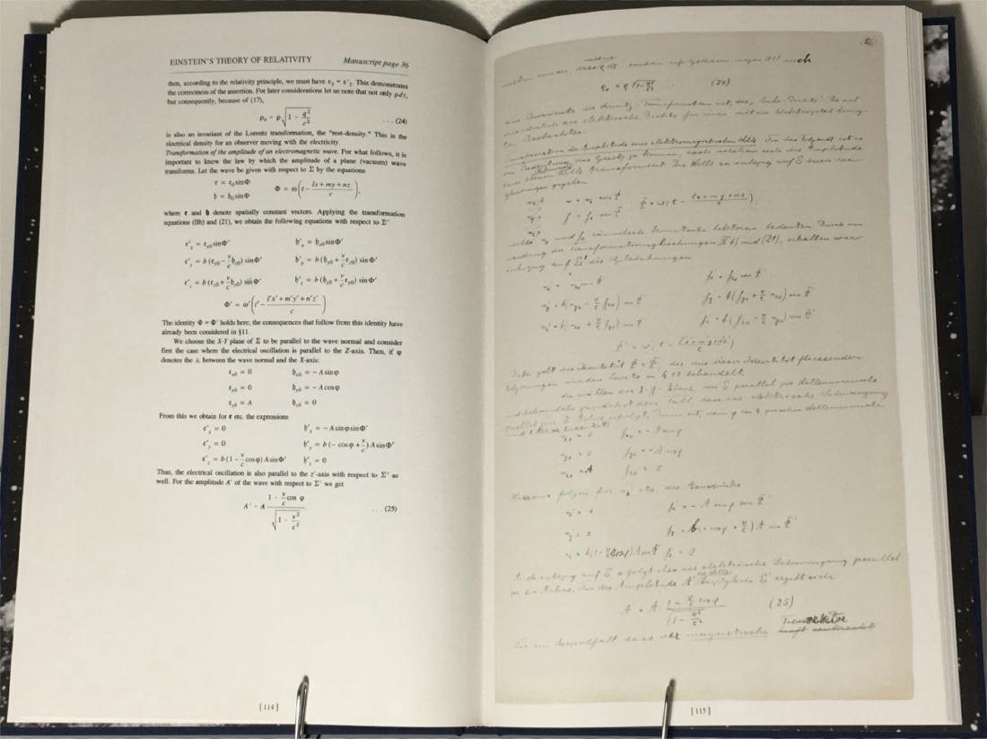 Einstein's 1912 Manuscript Special Theory of Relativity - 5