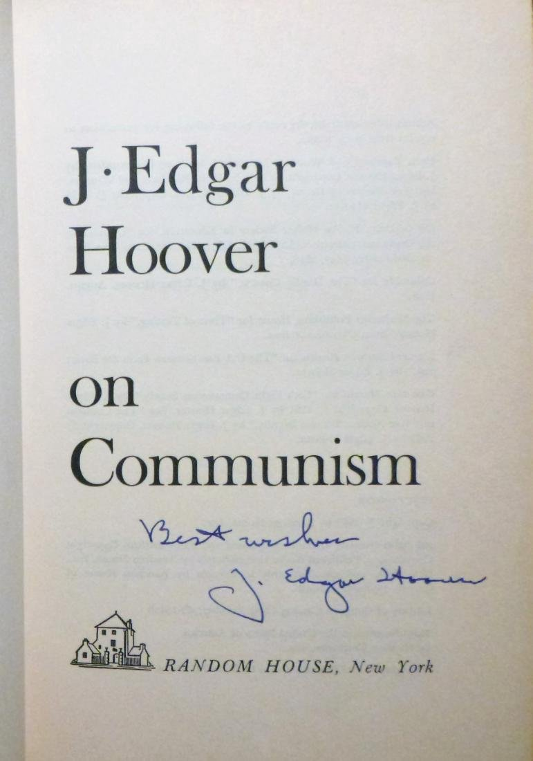 J. Edgar Hoover On Communism- Signed J. Edgar Hoover - 4