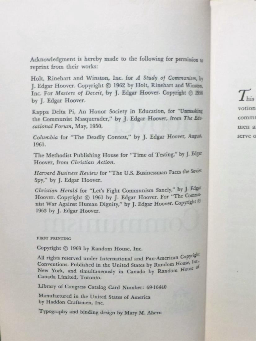 J. Edgar Hoover On Communism- Signed J. Edgar Hoover - 5