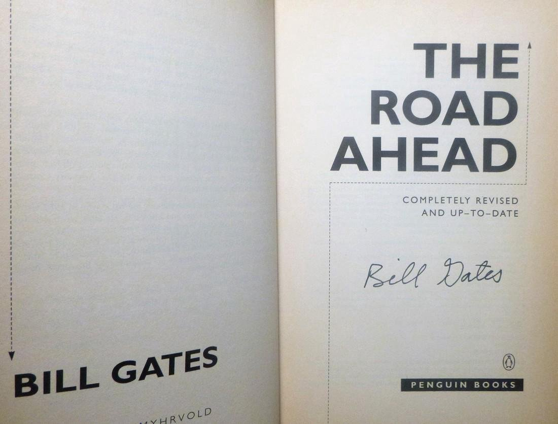The Road Ahead - Bill Gates Signed Bill Gates - 3