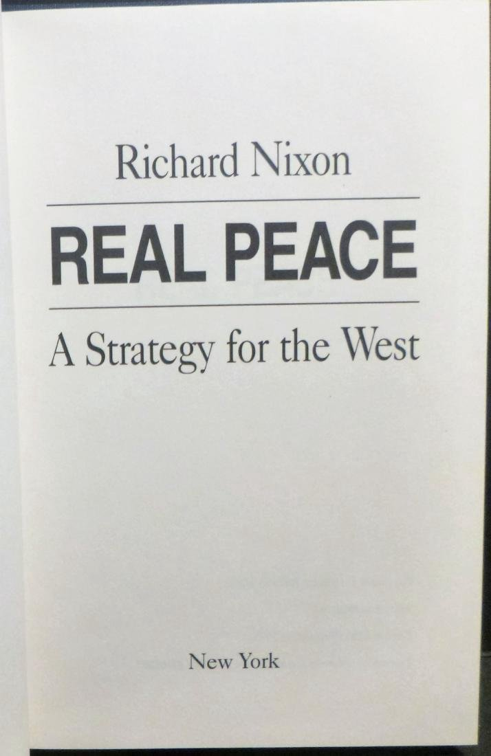 Real Peace- Nixon Signed Richard Nixon