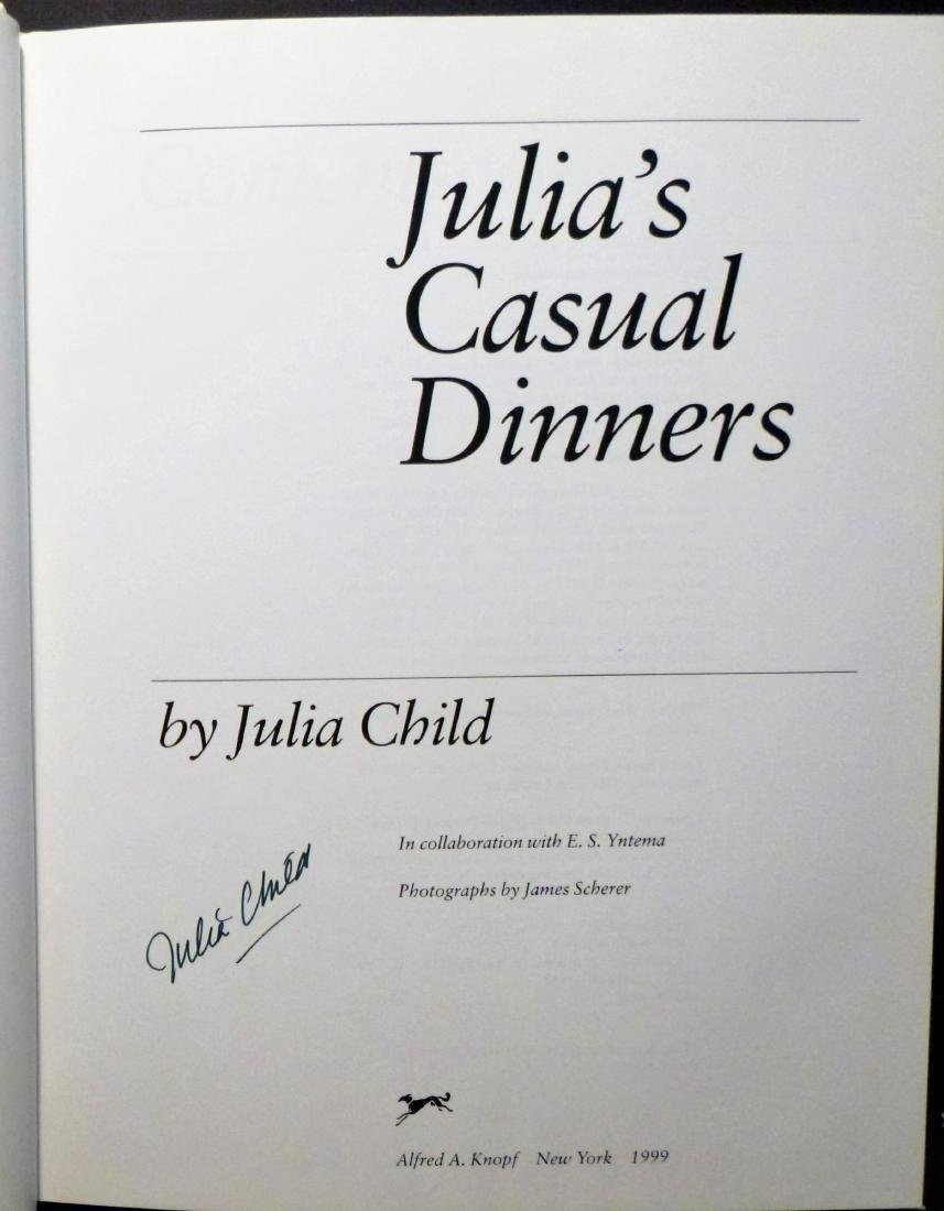 Julia's Casual Dinners- Signed Julia Child - 2