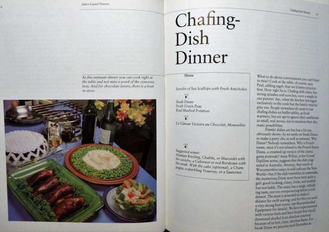 Julia's Casual Dinners- Signed Julia Child - 6