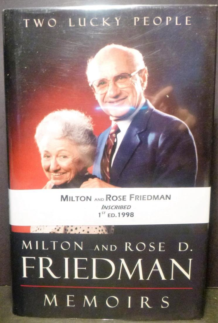 2 Lucky People - Signed Milton & Rose Friedman