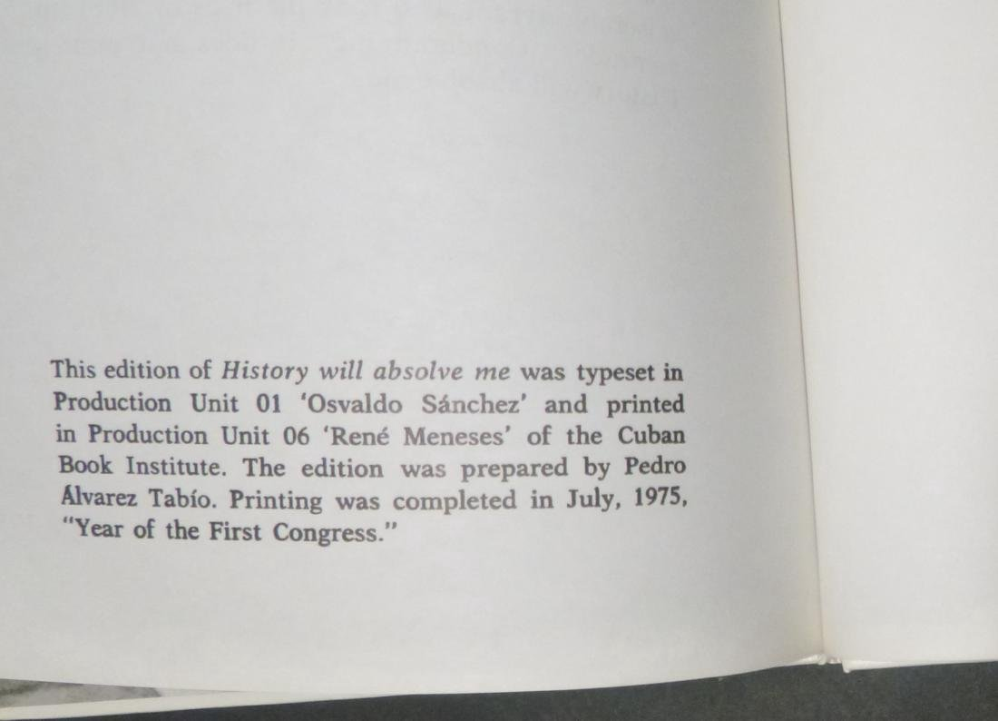 History Will Absolve Me - Signed Fidel Castro - 5
