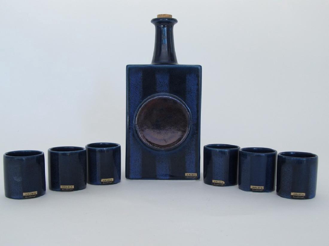 Flask and Shotglass Set by Arabia Finland