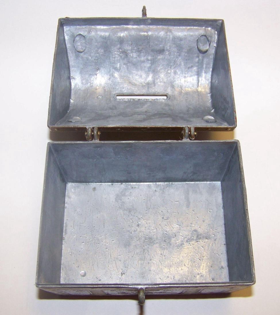 Vintage E.J. Kahn Company Metal Still Coin Bank - 8