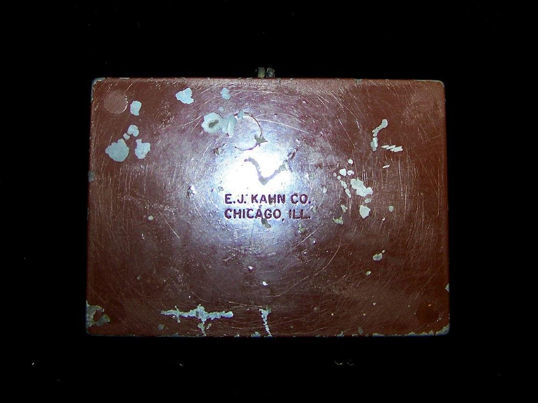 Vintage E.J. Kahn Company Metal Still Coin Bank - 9