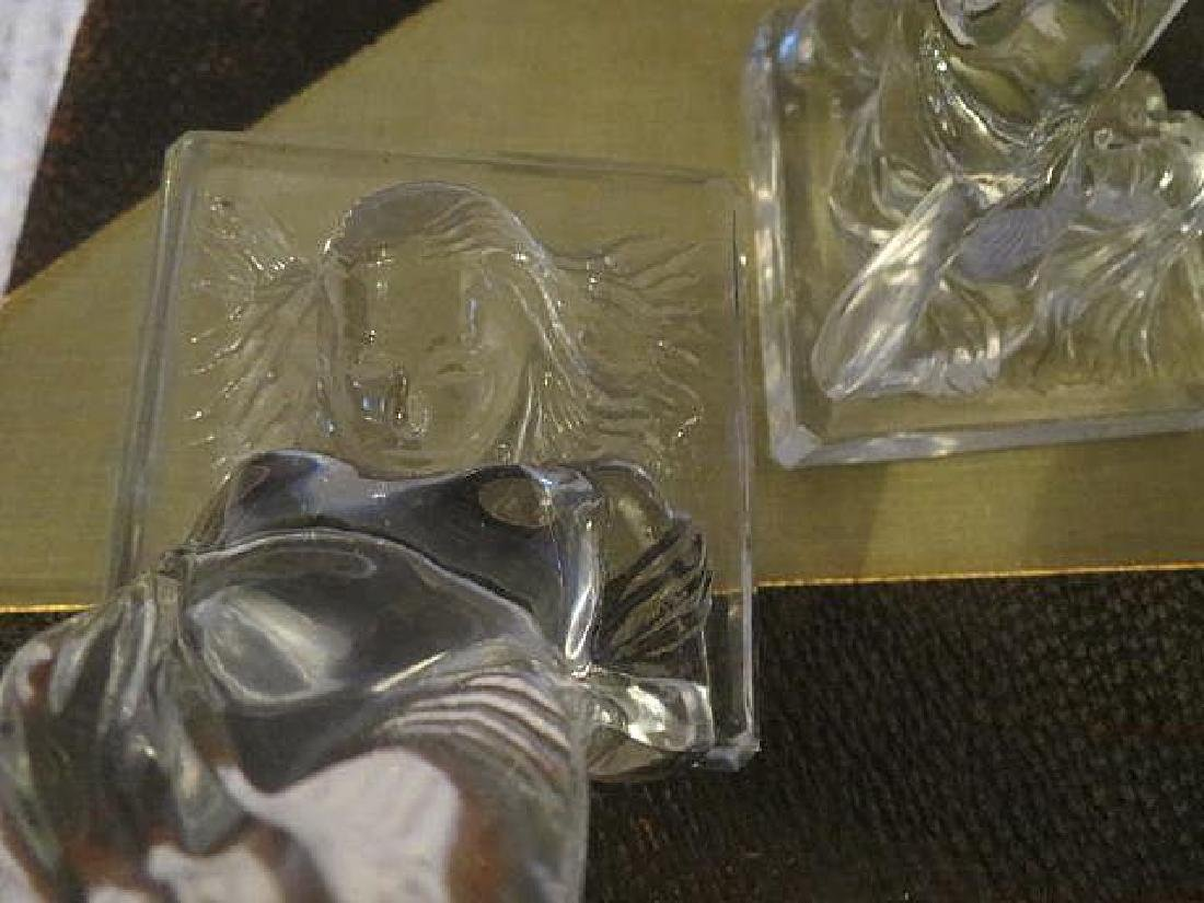 Vintage Art Deco Nude legs up Glass bookends - 2