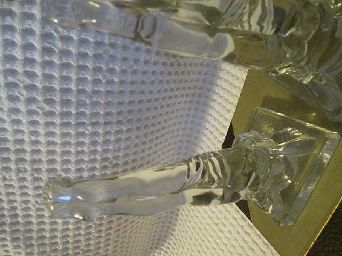 Vintage Art Deco Nude legs up Glass bookends - 4