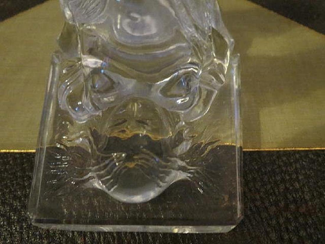 Vintage Art Deco Nude legs up Glass bookends - 6