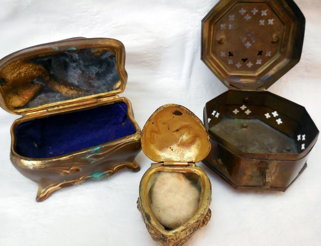 Lot of Antique & Vintage Jewelry Boxes - 5
