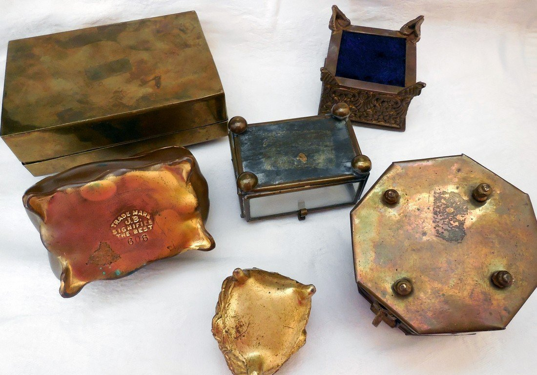 Lot of Antique & Vintage Jewelry Boxes - 6