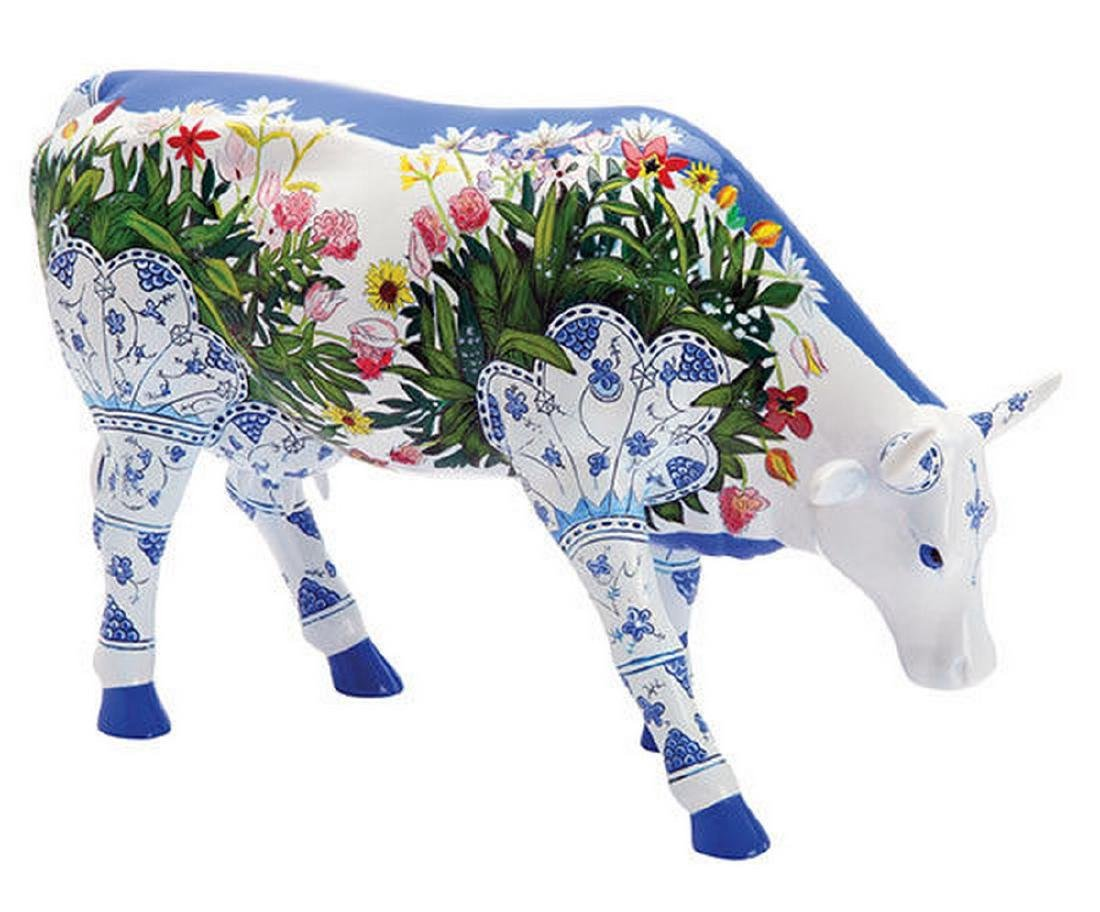 CowParade: Musselmalet Cow statue