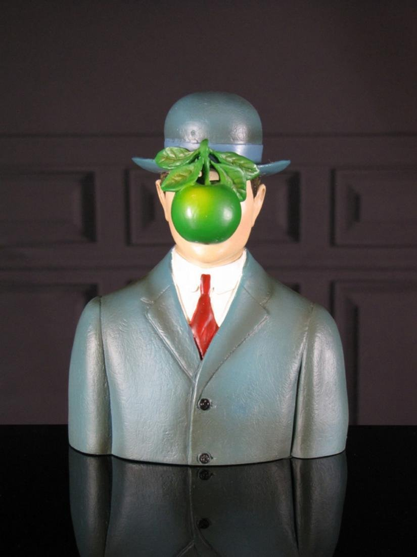 After René Magritte: The Son of Man statue
