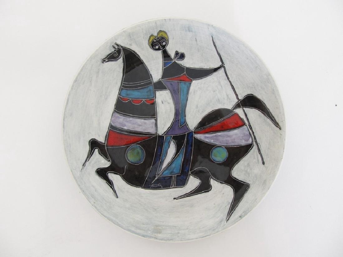 Fantoni Decorative Ceramic Plate, 1950s