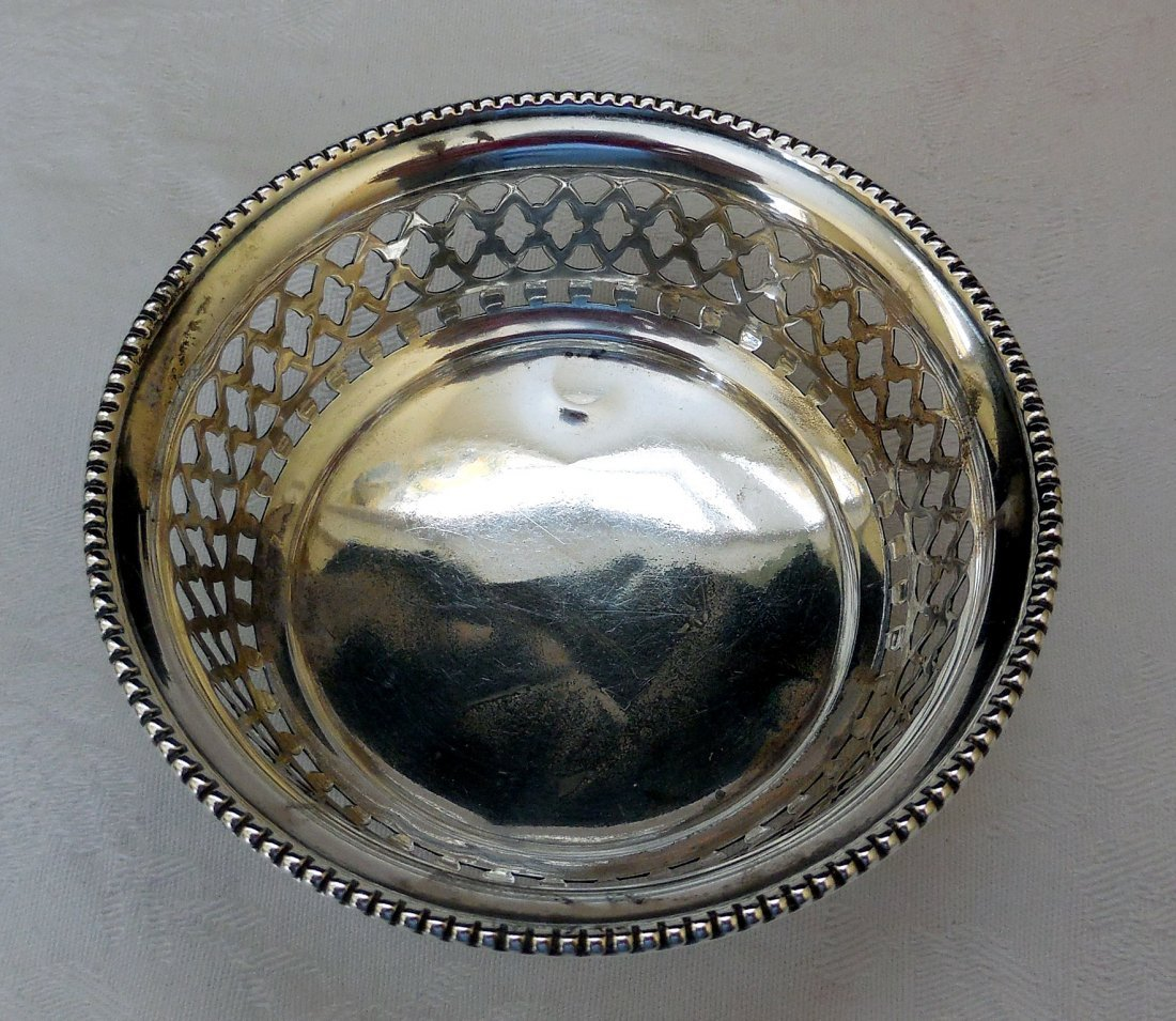 Sterling Silver Footed Candy Dish - 3