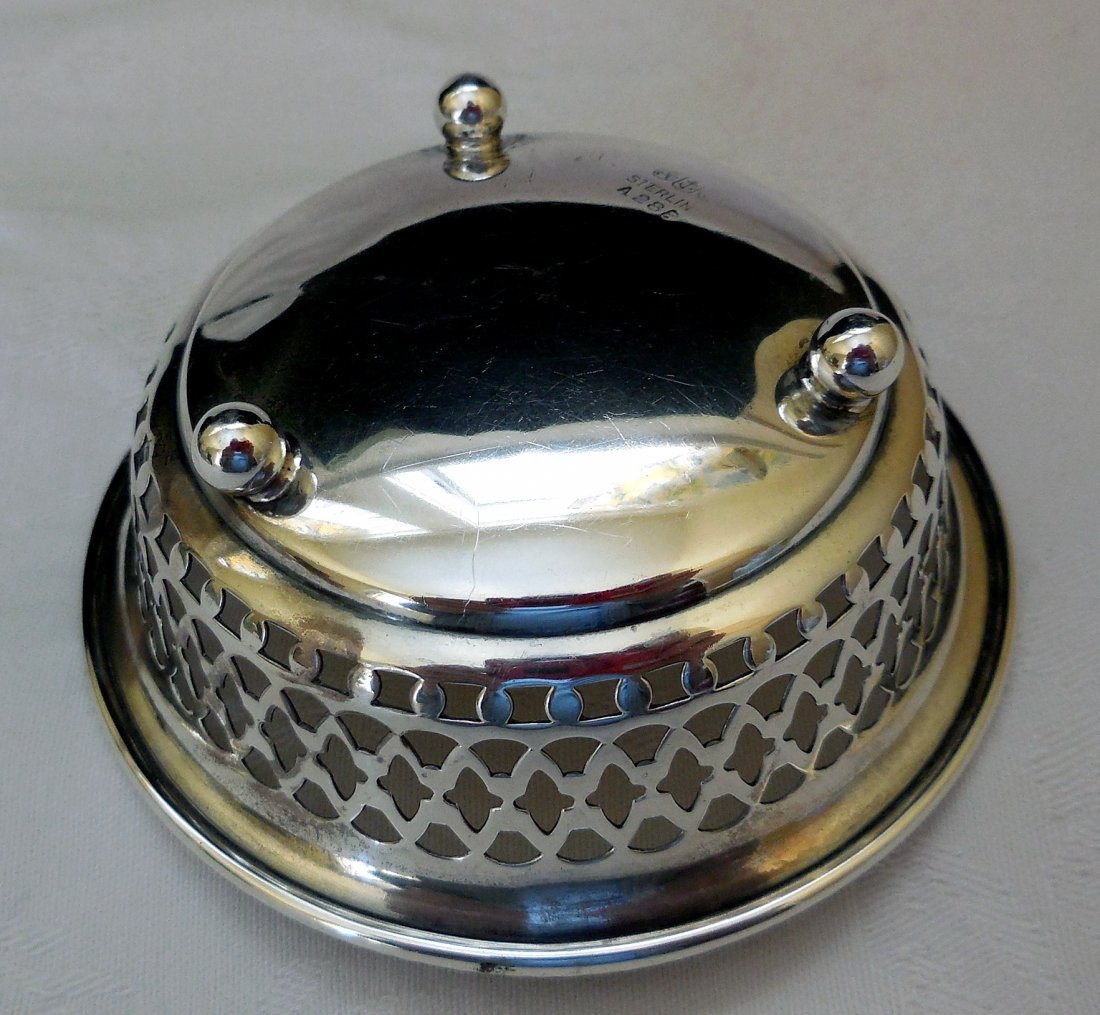 Sterling Silver Footed Candy Dish - 4