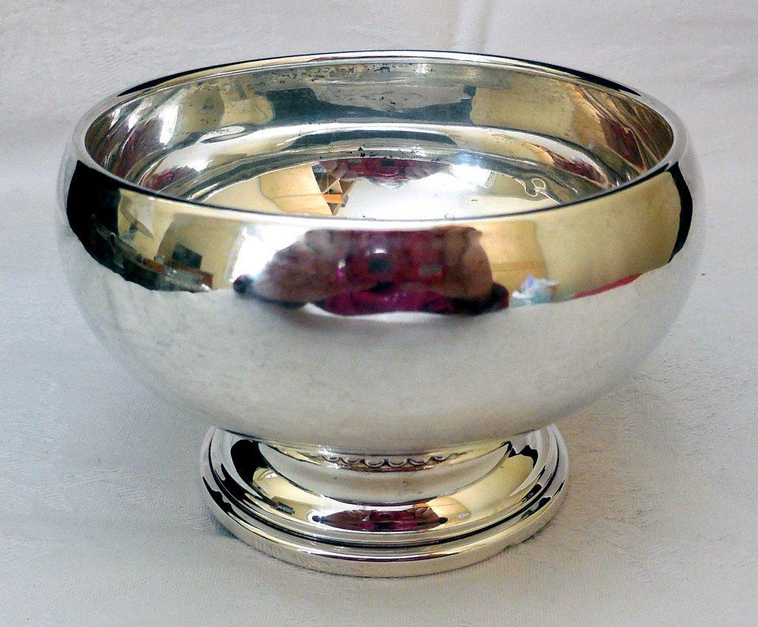 Sterling Silver Bowl on Pedestal