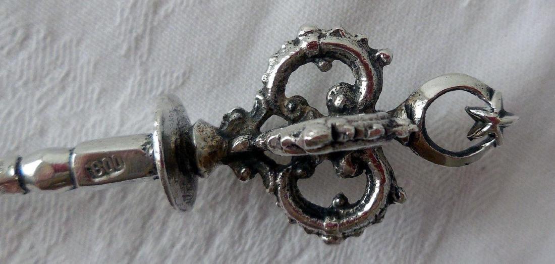 Early Ottoman 800 Silver Tea Spoon - 4