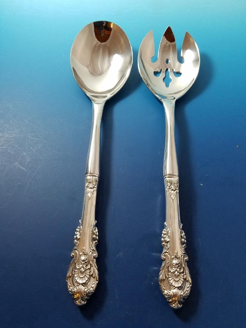 Wallace Sir Christopher Sterling Silver Salad Servers