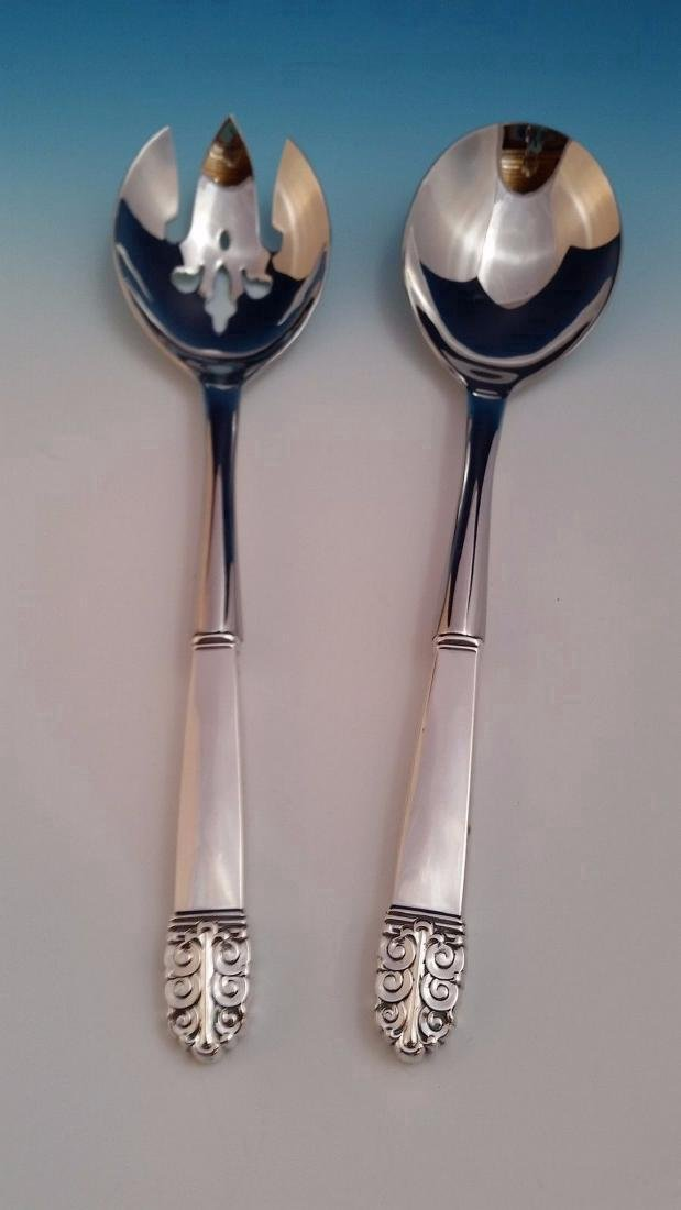 International Northern Lights Sterling Silver Salad Set