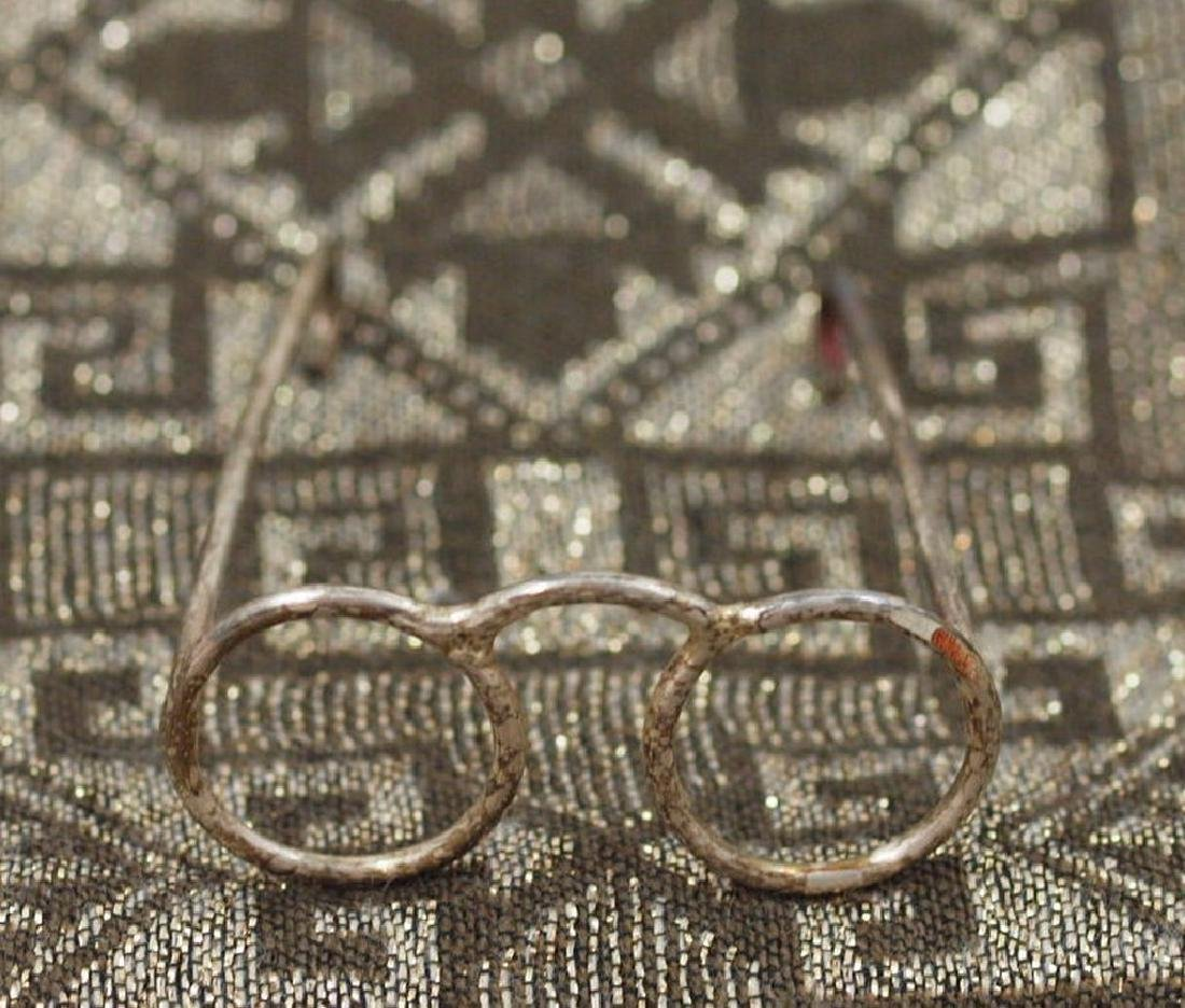 Vintage Nice model in silver 800 of round glasses