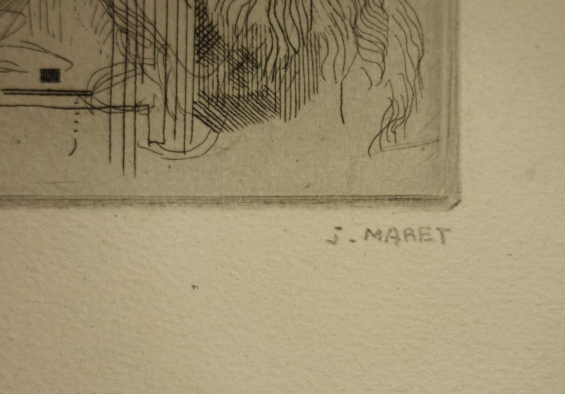 Jacques Maret Surrealist Composition Etching - 6