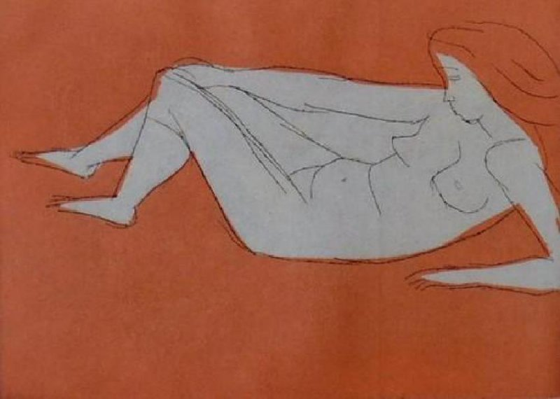 Irving Amen Nude Woodcut