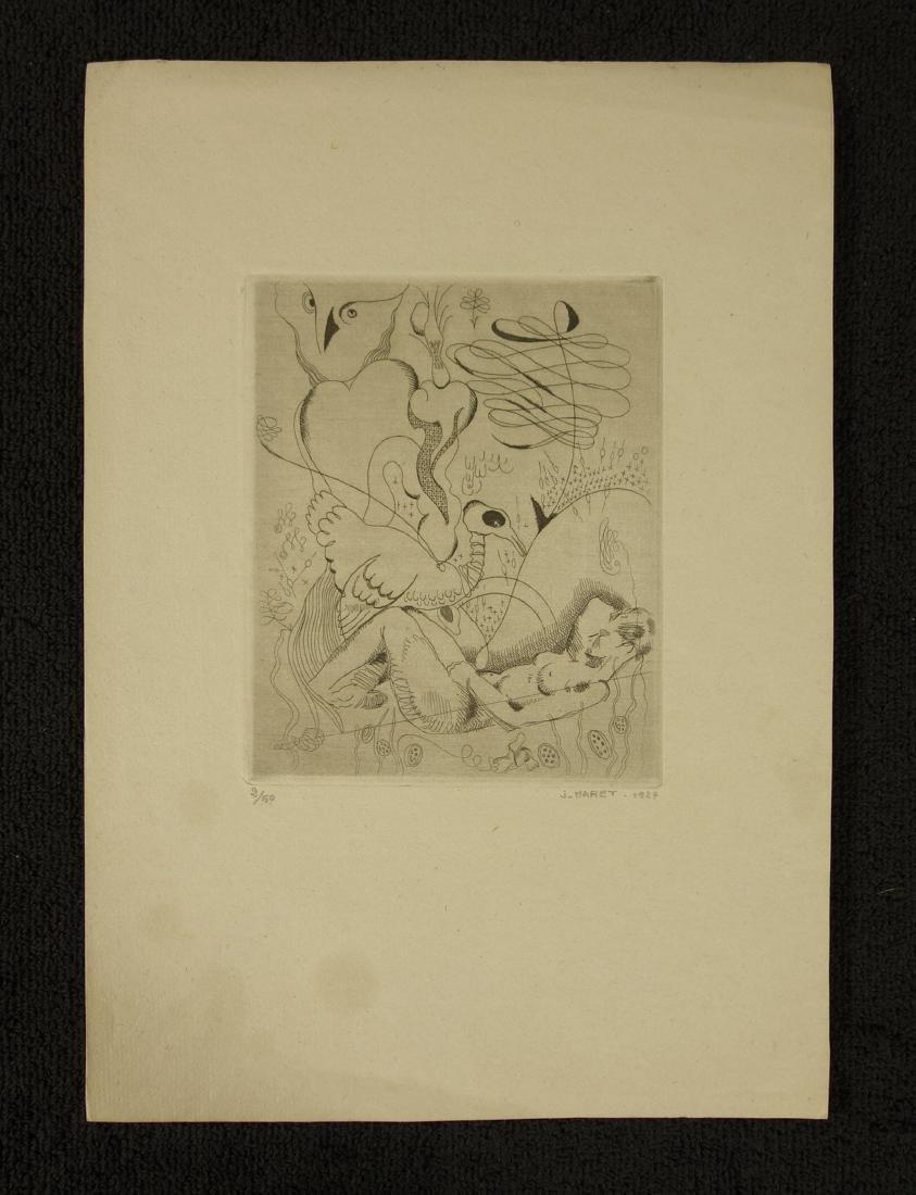 Jacques Maret Surrealist Composition Etching - 2
